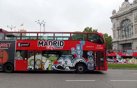 Madrid vervoer hop on hop off bus